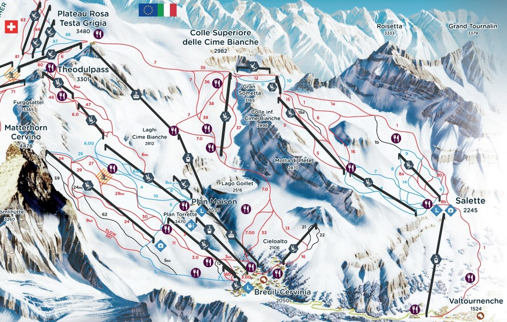Zermatt Ski Slope Secrets: An Overview – Zermatterhorn on austria ski map, grenoble ski map, cervinia trail map, innsbruck ski map, switzerland on world map, valle nevado ski map, alta ski map, verbier ski map, soelden ski map, leysin ski map, new england ski map, hintertux ski map, switzerland on europe map, chamonix ski map, titlis ski map, torgon ski map, zugspitze ski map, matterhorn switzerland map, grindelwald ski map, tyrol ski map,